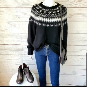 NWT! J. Crew  Nordic embellished soft knit sweater